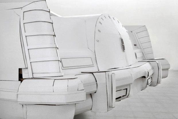 Lincoln Continental de papel