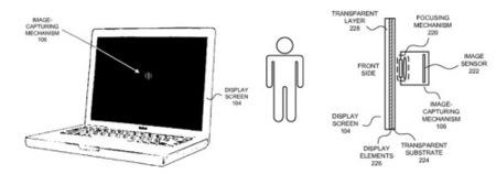 Apple patenta una cámara oculta detrás de una pantalla
