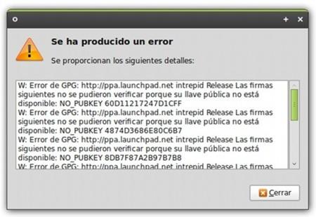 Solución el error de verificación de firmas GPG de Launchpad en Ubuntu