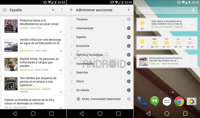 Noticias y tiempo de Google se renueva en su versión 2.0 disponible en Google Play 650_1200