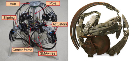 QRoSS es un robot que rueda y camina como un Droideka de Star Wars