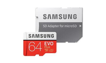 Para ampliar la memoria de tu smartphone, en MediaMarkt tienes la Micro SDXC Samsung EVO Plus de 64 GB por sólo 14,90 euros