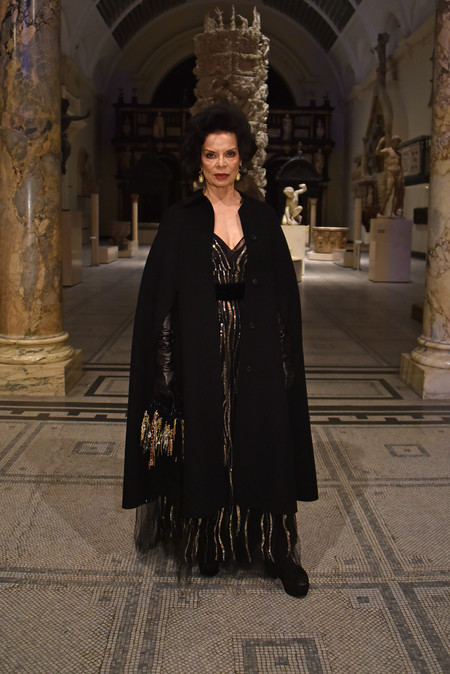 Bianca Jagger At The Christian Dior Exhibition In London 1