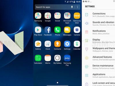 Samsung Galaxy S7 y S7 Edge ya disponen de la segunda Beta de Android 7.0 Nougat en Europa