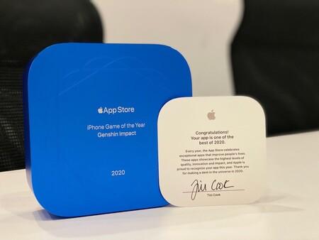 Este es el trofeo que envía Apple a los ganadores de la App Store 2020