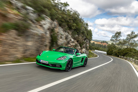 Porsche 718 Boxster verde pitón