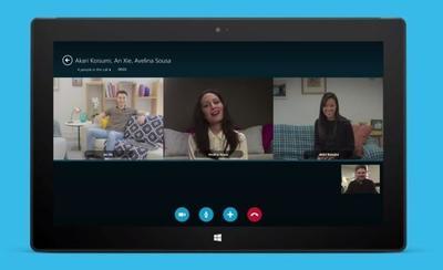 Skype ahora ofrece videoconferencia grupal gratis en tablets con Windows 8.1/RT