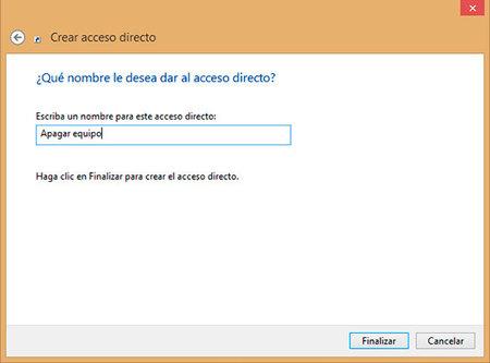 Acceso directo, paso 2