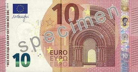El nuevo billete de diez euros entrará en vigor a partir del 23 de Septiembre