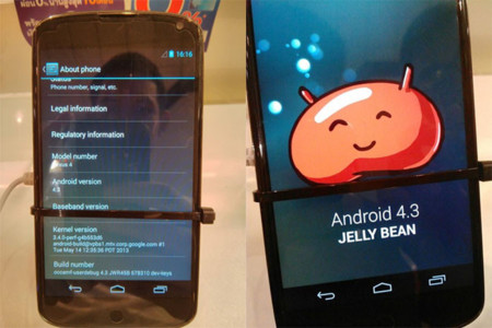 Aparece el Nexus 4 con Android 4.3 (Jelly Bean) en el Thailand Mobile Expo 2013 [Vídeo]