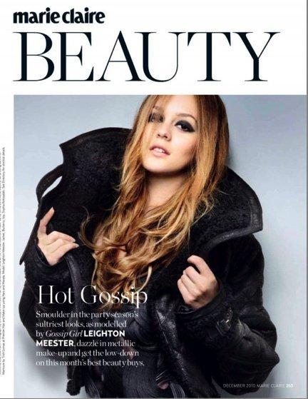 Leighton Meester en la portada de Marie Claire UK