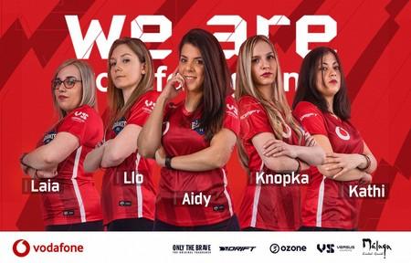 """Vodafone Giants presenta a su equipo femenino de CSGO con los mismos recursos que los masculinos para """"romper"""" el statu quo"""