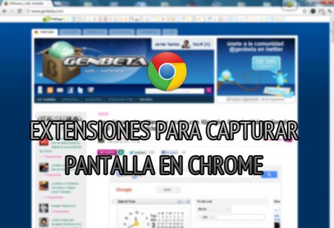 Extensiones para realizar capturas de pantalla en Chrome.