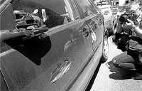 29 coches destrozados tras una persecución