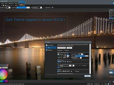 Los temas oscuros llegan a Paint.NET con una actualización que ya se puede descargar desde la Tienda de Windows