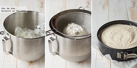 Tarta de queso y yogur griego. Receta paso a paso