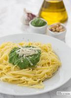 Pesto de espinacas y avellanas. Receta