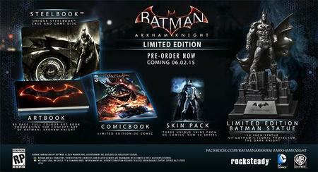 Junio de 2015 se vestirá de negro para las dos ediciones de Batman: Arkham Knight