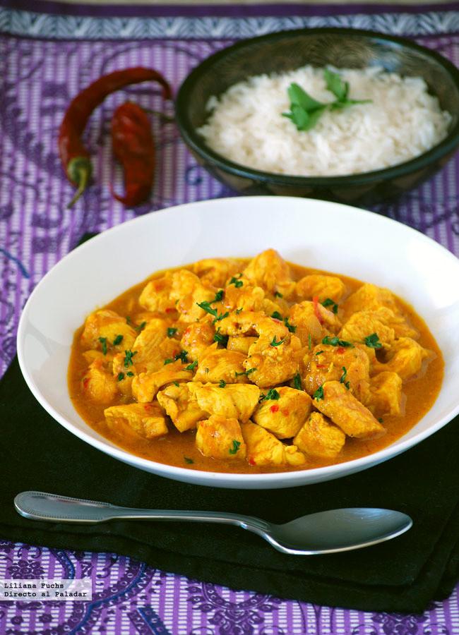 Pollo al curry en diez minutos