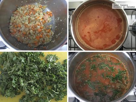 Sopa Verduras con Alubias