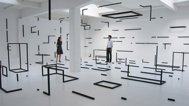 Habitaciones geométricas de Esther Stocker