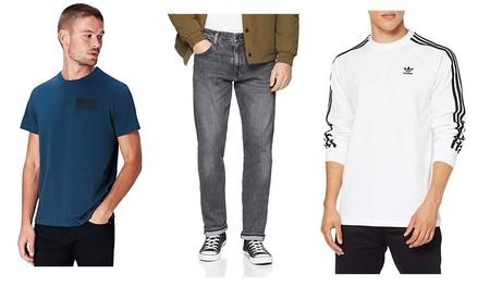Chollos en tallas sueltas de pantalones Levi's, camisetas Vans y sudaderas Adidas por menos de 30 euros en Amazon