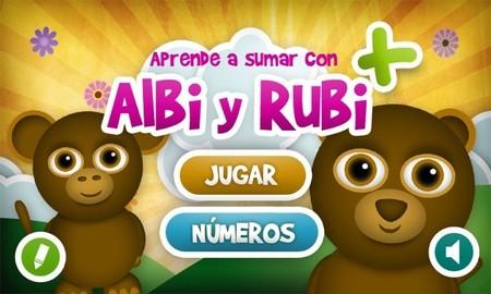 La aplicación para Aprender a sumar con Albi y Rubi de Imawow