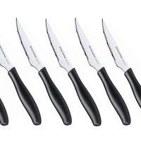 Por sólo 10,15 euros tenemos el  set de seis cuchillo chuleteros con hoja de 10 cm Tescoma Sonic en Amazon