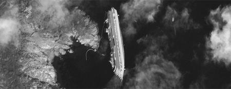 Una imagen de la tragedia del Costa Concorde