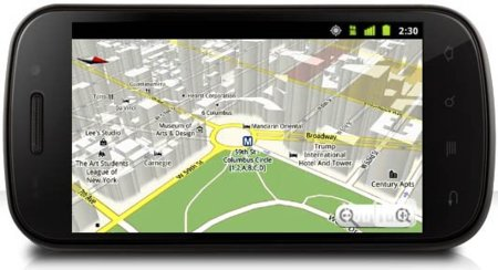 Google Maps 5.0 visto desde un Nexus S
