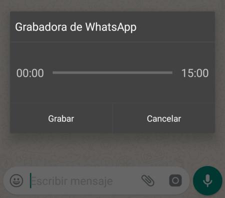Ahora puedes enviar notas de voz en WhatsApp sin mantener pulsada la pantalla