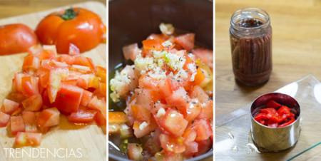 Ensalada de anchoas y pimientos asados - 2