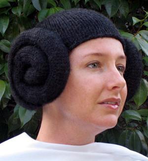 Gorro de lana estilo Princesa Leia