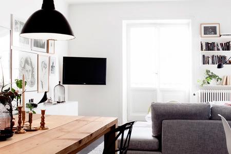 Precioso apartamento en Estocolmo con un toque industrial