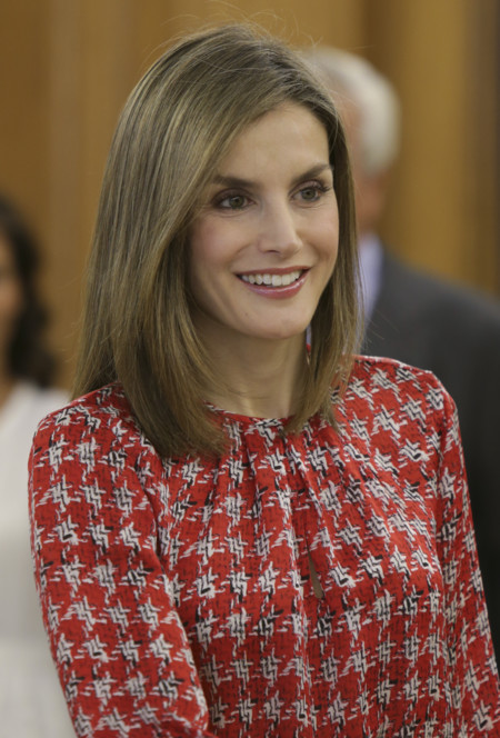 La reina Letizia repite blusa de Carolina Herrera y brilla en las audiencias