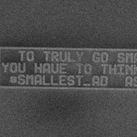 Este es el anuncio más pequeño que se ha logrado crear y no se ve a simple vista