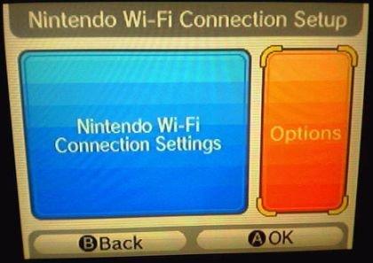 Nintendo DS WiFI: interfaz gráfico