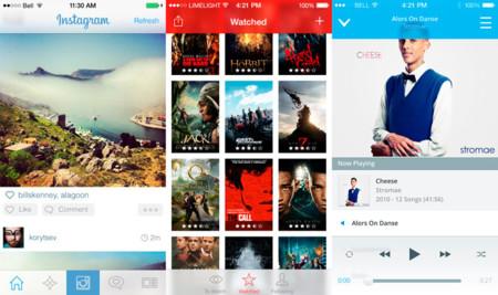 Así podrían verse algunas de las apps más populares en iOS 7
