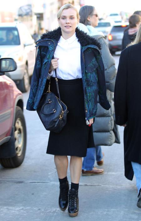 Diane Kruger Abrigo look