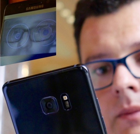 Samsung Galaxy Note 7 escáner de iris