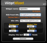 Widget Wizard genera automáticamente widgets RSS