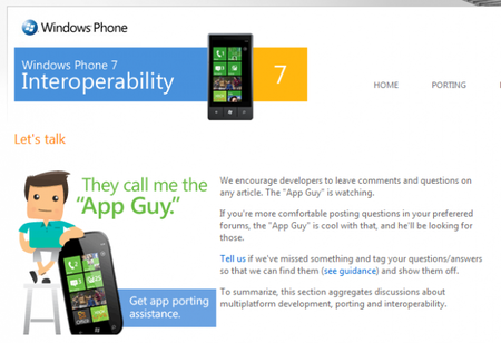 Windows Phone 7 Interoperability, APIs para migrar aplicaciones de iPhone y Android a WP7