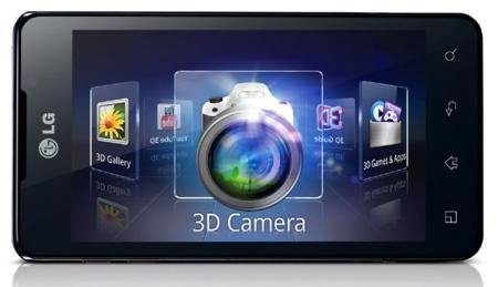 LG Optimus 3D max pantalla