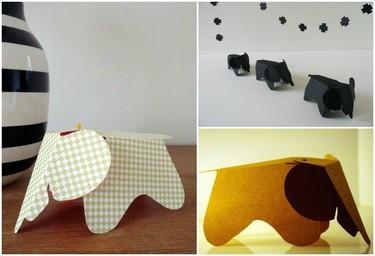 Cómo tener tu propio elefante Eames en cartulina