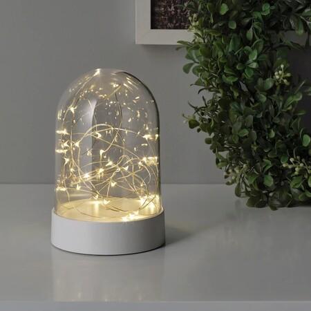 Fortjusning Iluminacion Decorativa Led Pilas Campana Blanco 0760198 Pe751371 S5 1