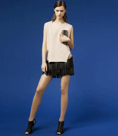 Zara minifalda lookbook febrero