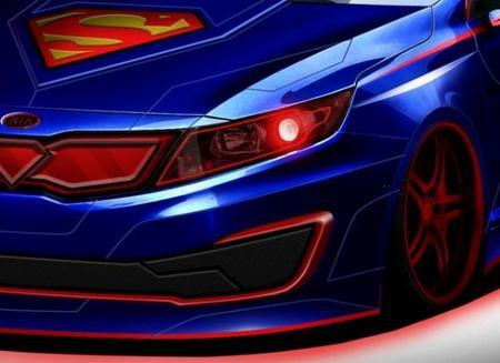 Kia presenta la primera imagen del Optima híbrido versión Superman