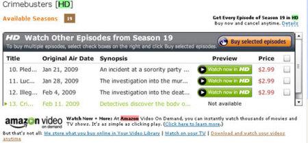 Contenidos de televisión en HD en Amazon, inminente