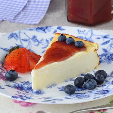 Tarta de queso ligera: es una tarta, sí, pero la que menos pesa de todas