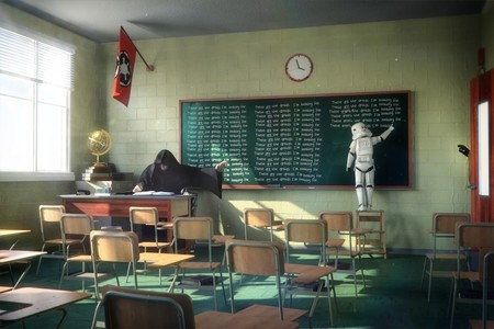 La vida de un Stormtrooper de Star Wars también es complicada, y este artista nos lo demuestra